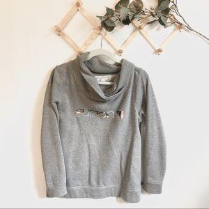 Burton • soft gray sweatshirt with multicolor logo